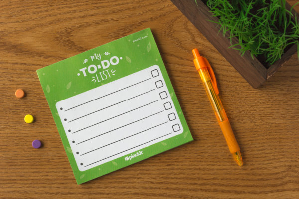 "Plackit - To Do List Magnetic Notepad (5.5"" x 5.5"") - 50 sheets per pad"